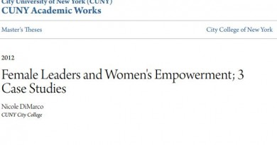 Female Leaders and Women 's Empowerment; 3 Case Studies